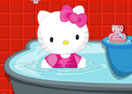 Hello Kitty Bathroom Cleaning