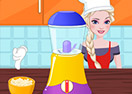 Elsa Cooking Garbanzo Bean Cake